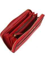 Portefeuille Cuir Michael kors Rouge money pieces T7GTVZ3L-vue-porte