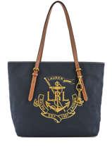 Sac Porte Epaule A4 Seabrook Lauren ralph lauren Bleu seabrook 31687514