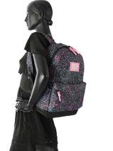 Sac à Dos 1 Compartiment Superdry Noir backpack woomen G91008NQ-vue-porte