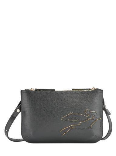Longchamp Shop-it Sac porté travers Noir