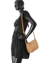 Sac Bandoulière Vintage Cuir Mila louise Marron vintage 3261RCS-vue-porte