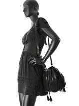 Sac Bandoulière Vintage Cuir Mila louise Noir vintage 3028SCE-vue-porte