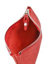 Trousse Cuir Mila louise Rouge vintage 3040SC-M-vue-porte