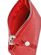 Porte-monnaie Cuir Mila louise Rouge vintage 3040SC-S-vue-porte