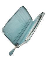 Portefeuille Cuir Coach Bleu wallet 58584-vue-porte