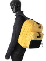 Sac à Dos 2 Compartiments Eastpak Jaune pbg authentic PBGK060-vue-porte