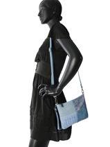 Sac Bandoulière Gabrielle Miniprix Bleu gabrielle MD1054-vue-porte