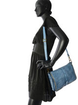 Sac Bandoulière Dewashed Cuir Milano Bleu dewashed DE17112-vue-porte