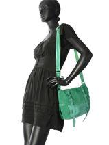Sac Bandouliere Vintage Cuir Mila louise Vert vintage 3112VSB-vue-porte
