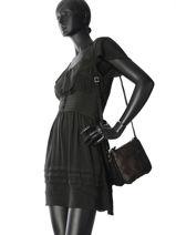 Sac Bandoulière Vintage Cuir Mila louise Noir vintage 3261CRB-vue-porte