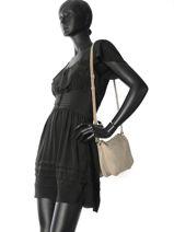 Sac Bandoulière Vintage Cuir Mila louise Beige vintage 3261RCS-vue-porte