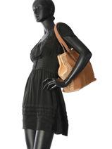 Sac Porté Main Vintage Cuir Mila louise Marron vintage 3294CVS-vue-porte