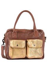 Shoppingtas Vintage Leder Paul marius Bruin vintage DANDY
