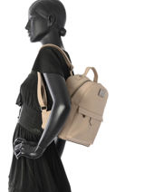 Sac A Dos Miniprix Marron backpack M9337-vue-porte