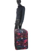 Valise 2 Roues Souple Travel Little marcel Multicolore travel MANDYL-vue-porte