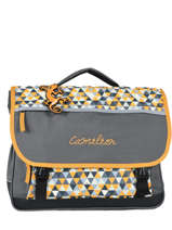 Cartable 3 Compartiments Cameleon Jaune new basic NBA-CA41
