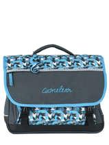 Cartable Enfant 3 Compartiments Cameleon Bleu new basic NBA-CA41