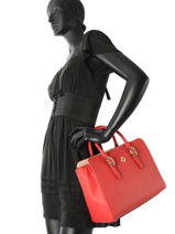 Sac Trapeze Th Buckle Tommy hilfiger Rouge th buckle AW05555-vue-porte