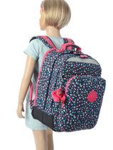 Sac à Dos 2 Compartiments Kipling Multicolore back to school / pbg PBG06666-vue-porte