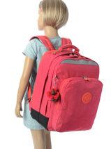 Sac à Dos 2 Compartiments Kipling Rose back to school / pbg PBG06666-vue-porte