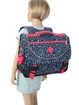 Boekentas 2 Compartimenten Kipling Grijs back to school / pbg PBG12074-vue-porte