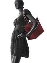 Longchamp Le pliage croco Besace Rouge-vue-porte