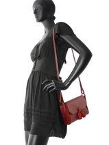 Longchamp PÉnÉlope soft Sac porté travers Rouge-vue-porte
