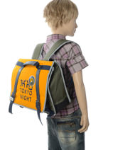 Cartable 1 Compartiment Ikks Jaune backpacker in tokyo 18-35836-vue-porte