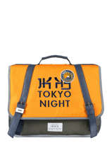Cartable 2 Compartiments Ikks Jaune backpacker in tokyo 18-38836
