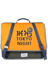 Cartable 2 Compartiments Ikks Jaune backpacker in tokyo 18-41836