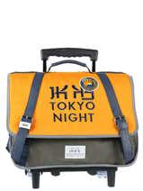 0453edb6c53 Boekentas Op Wieltjes 2 Compartimenten Ikks Geel backpacker in tokyo 18 -42836