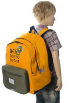 Sac à Dos 2 Compartiments Ikks Jaune backpacker in tokyo 18-63836-vue-porte