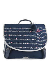 Cartable 2 Compartiments Ikks Bleu oh my captain 18-41822