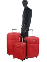 Lot De Valises City Travel Rouge city 2885-LOT-vue-porte