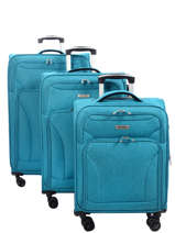 Lot De Valises Snow Travel Bleu snow 12208LOT