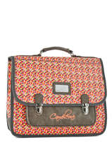 Cartable 2 Compartiments Cameleon Gris retro RET-CA38