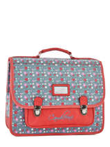 Cartable 2 Compartiments Cameleon Rouge retro RET-CA38