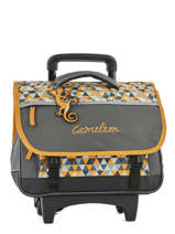 Cartable à Roulettes 2 Compartiments Cameleon Jaune new basic NBACA38R