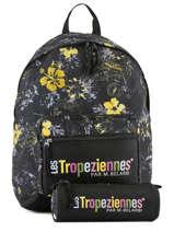 Sac à Dos 1 Compartiment Avec Trousse Offerte Les tropeziennes Noir wissant WIS08