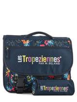 Cartable 2 Compartiments Avec Trousse Offerte Les tropeziennes Bleu wissant WIS04