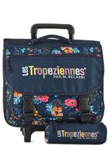 Cartable A Roulettes Avec Trousse Offerte Les tropeziennes Bleu wissant WIS01