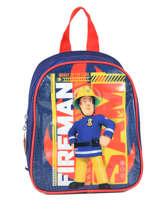 Rugzak Mini Sam le pompier Blauw brave 64360BRV