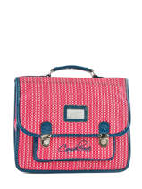 Cartable 2 Compartiments Cameleon Rose retro vinyl REV-CA35