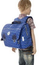 Cartable 1 Compartiment Kipling Bleu back to school capsule 82-vue-porte