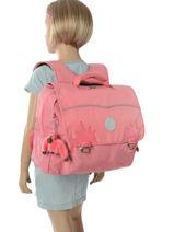 Cartable 1 Compartiment Kipling Rose back to school capsule 82-vue-porte