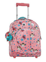 Sac à Roulettes Kipling Rose back to school 157