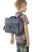 Boekentas 1 Compartiment Kipling Blauw back to school 13571-vue-porte