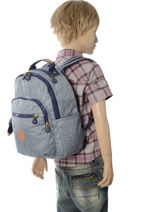 b3a986525da ... Rugzak 1 Compartiment Kipling Blauw back to school 18674-vue-porte