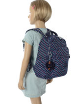Sac à Dos 1 Compartiment Kipling Bleu back to school 18674-vue-porte