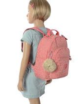 Sac à Dos 1 Compartiment Kipling Rose back to school 18674-vue-porte